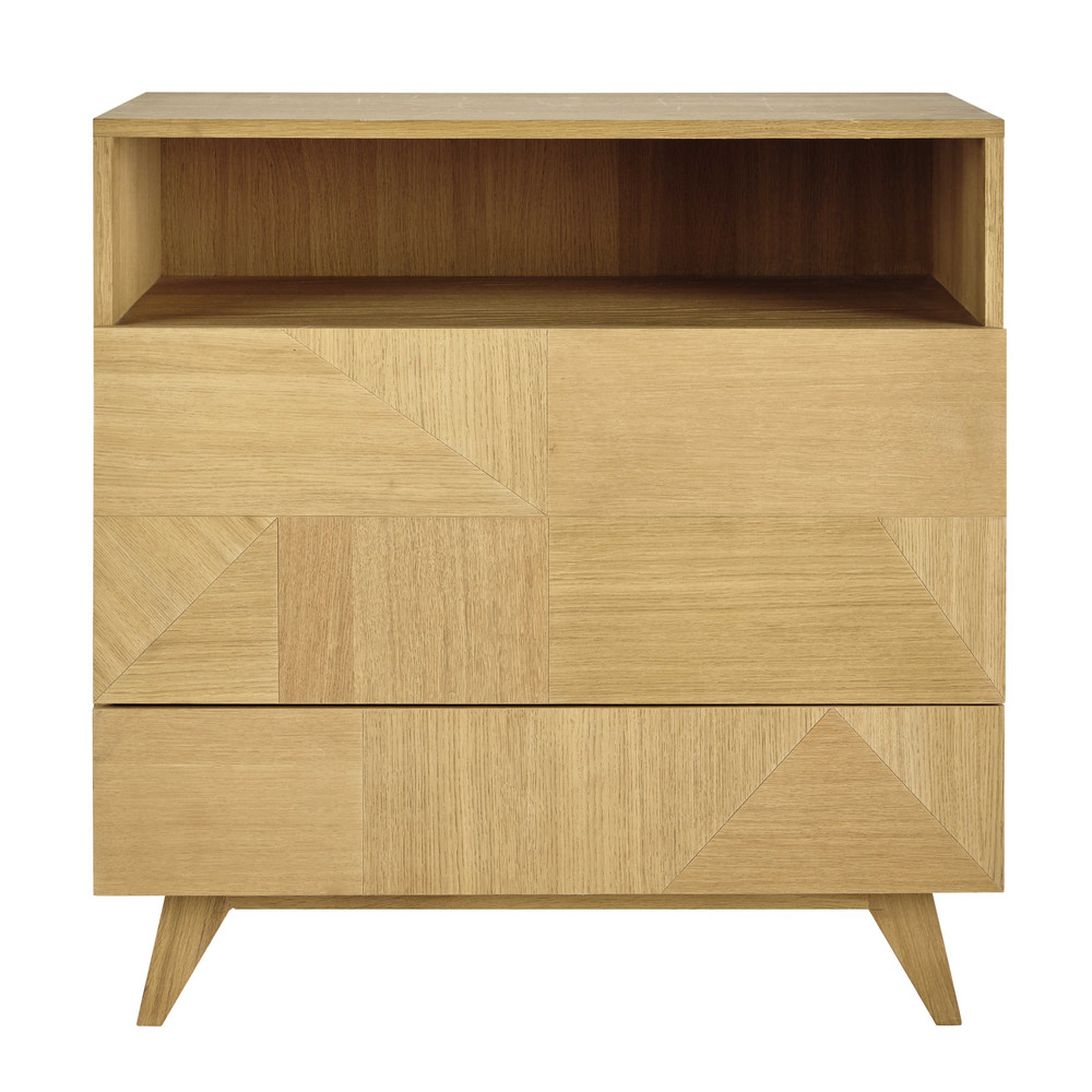 commode en bois l 90 cm origami maisons du monde. Black Bedroom Furniture Sets. Home Design Ideas