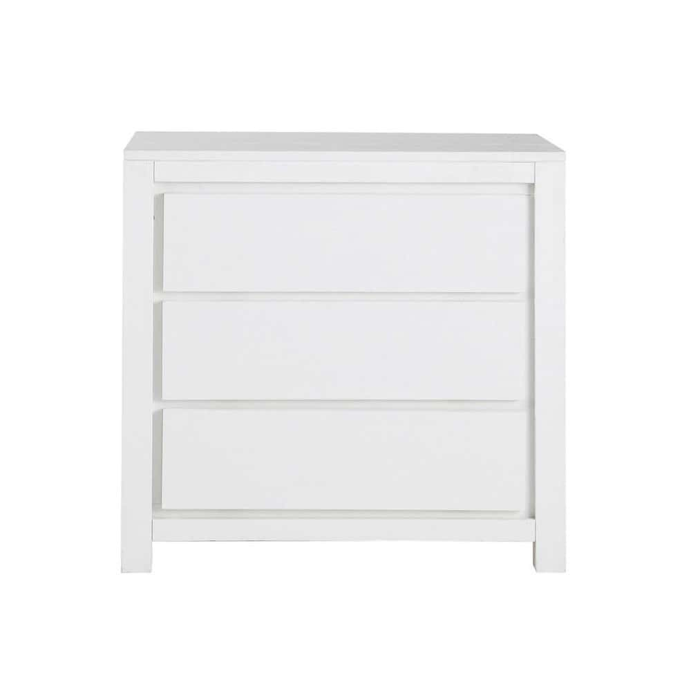commode en bois massif blanche l 85 cm white maisons du. Black Bedroom Furniture Sets. Home Design Ideas