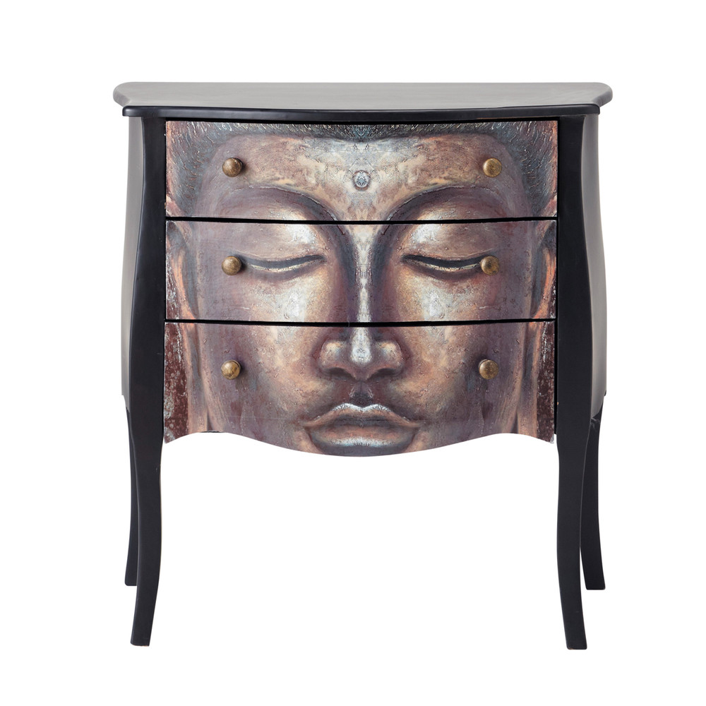 commode en bois noire l 75 cm bouddha maisons du monde. Black Bedroom Furniture Sets. Home Design Ideas