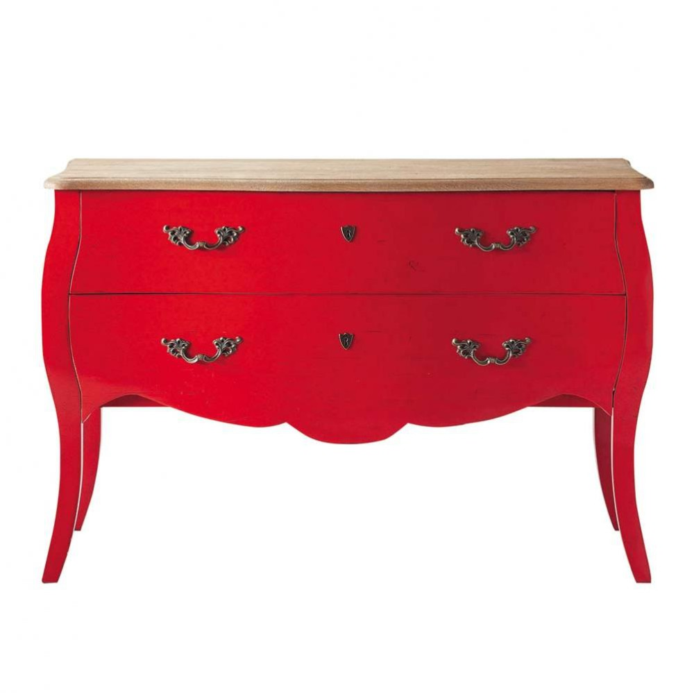 commode en bouleau rouge l 120 cm haute couture maisons. Black Bedroom Furniture Sets. Home Design Ideas