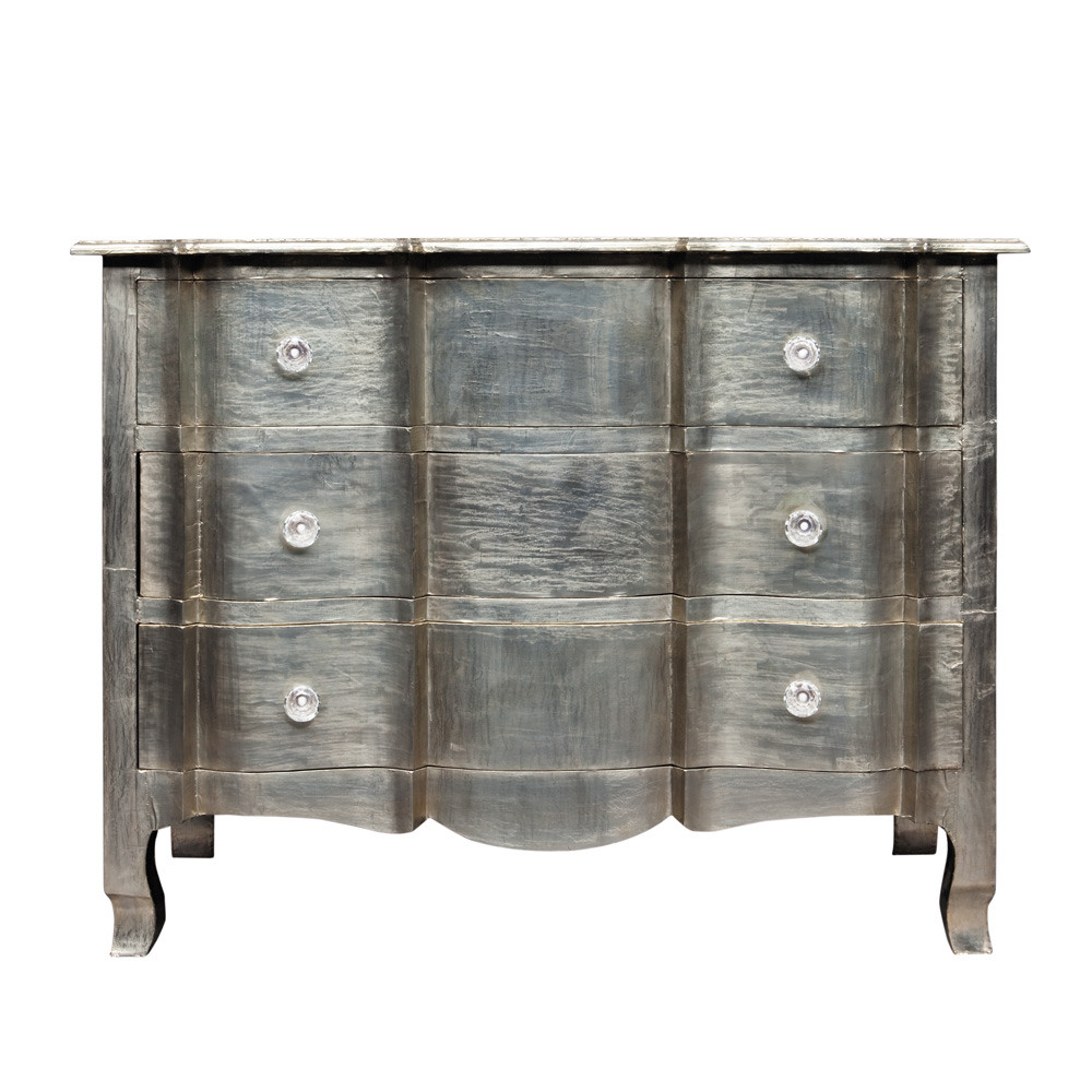 commode en manguier argent e l 110 cm napol on maisons du monde. Black Bedroom Furniture Sets. Home Design Ideas