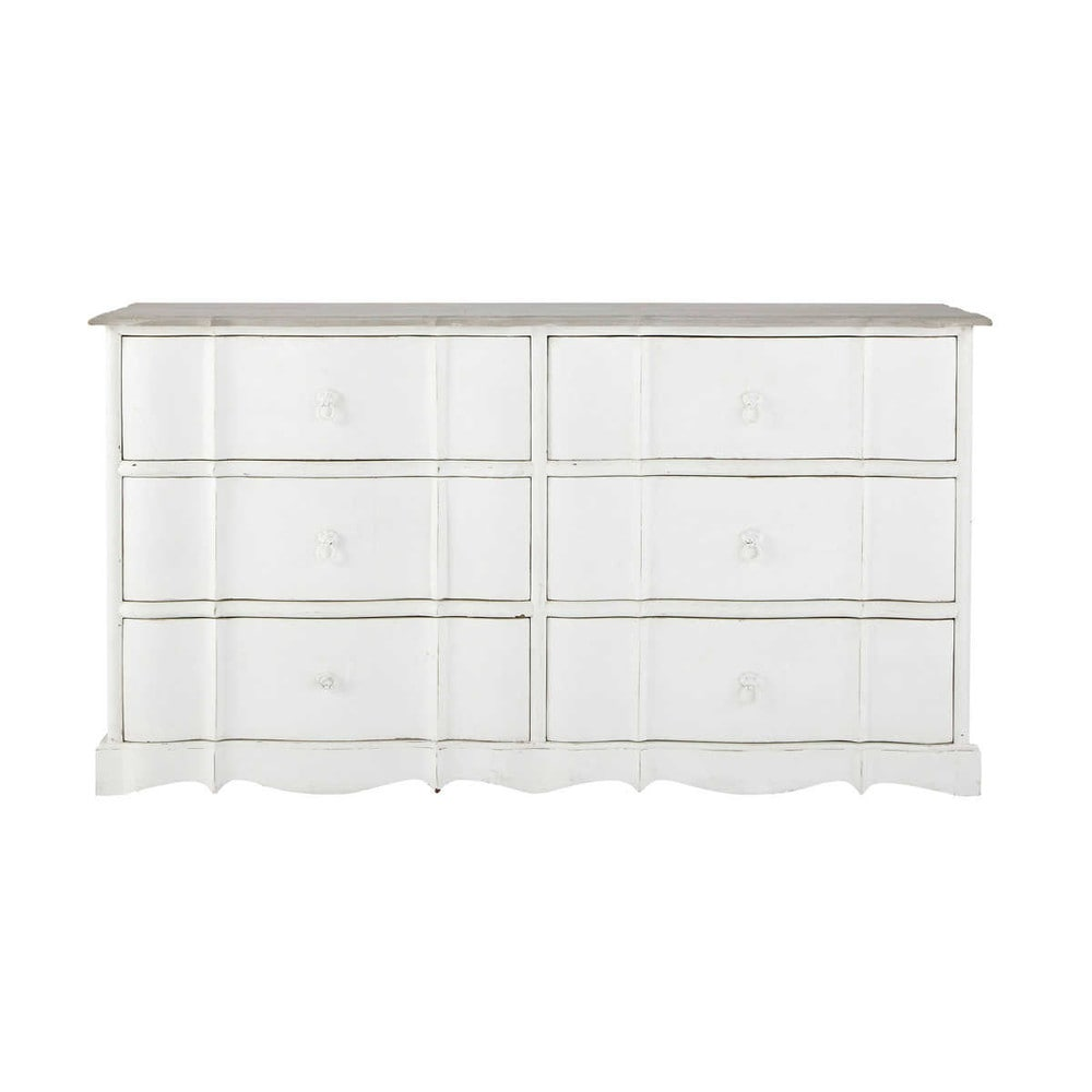 commode en manguier blanche l 153 cm m dicis maisons du monde. Black Bedroom Furniture Sets. Home Design Ideas