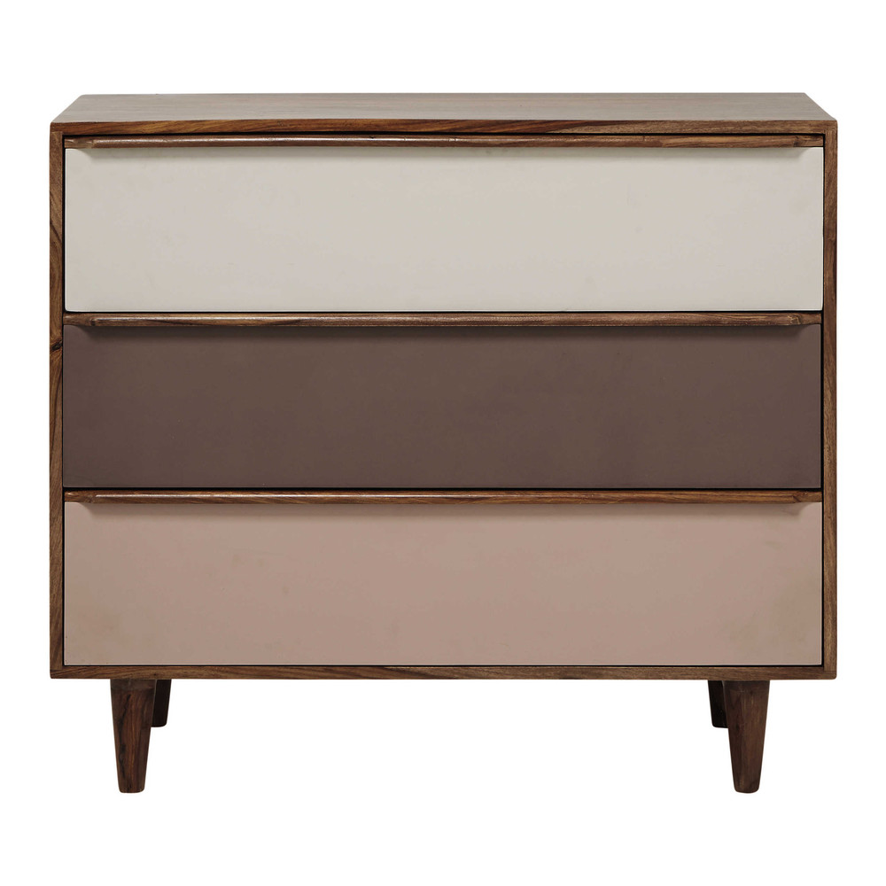 Commode en sheesham massif rose l 95 cm nina maisons du monde - Commode maison du monde occasion ...
