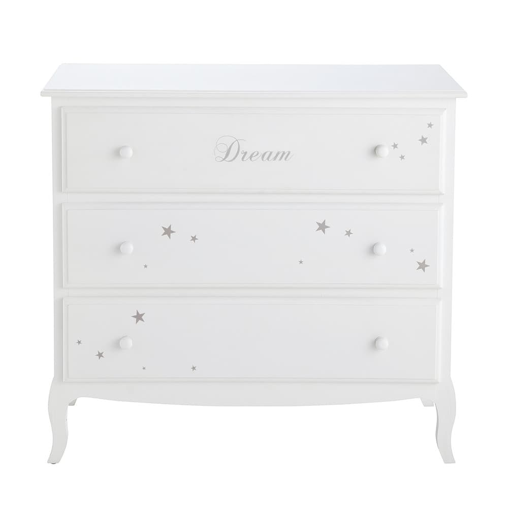 commode enfant 3 tiroirs blanche songe maisons du monde. Black Bedroom Furniture Sets. Home Design Ideas