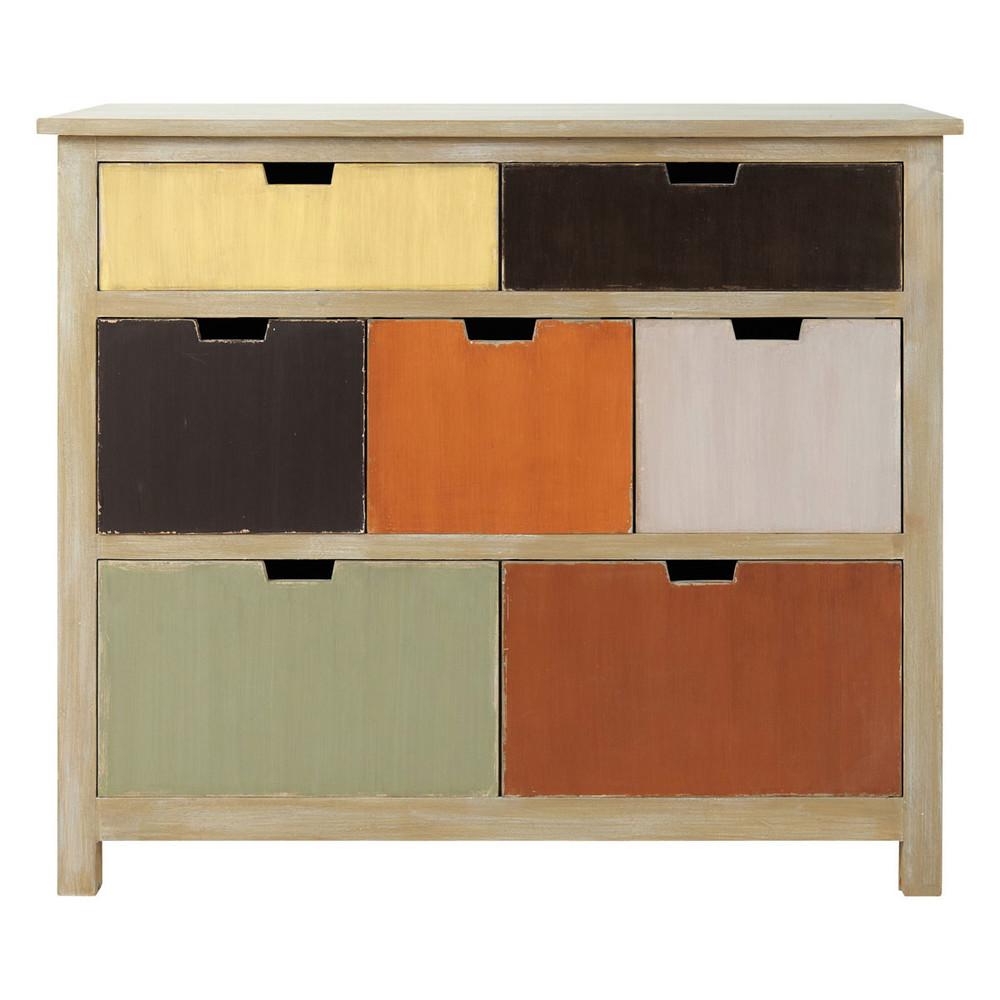 commode enfant en bois multicolore l 105 cm savane maisons du monde. Black Bedroom Furniture Sets. Home Design Ideas