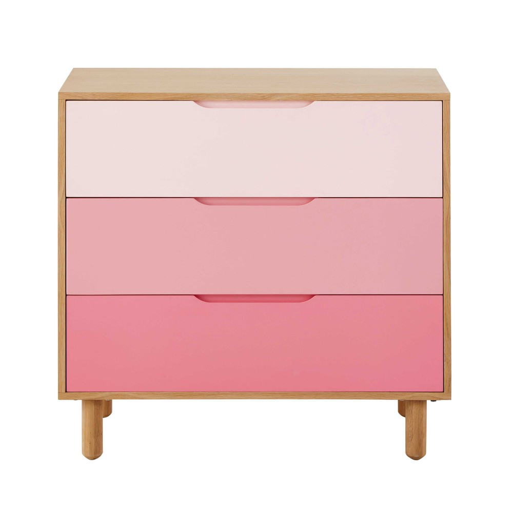 commode enfant en bois rose l 83 cm lea maisons du monde. Black Bedroom Furniture Sets. Home Design Ideas