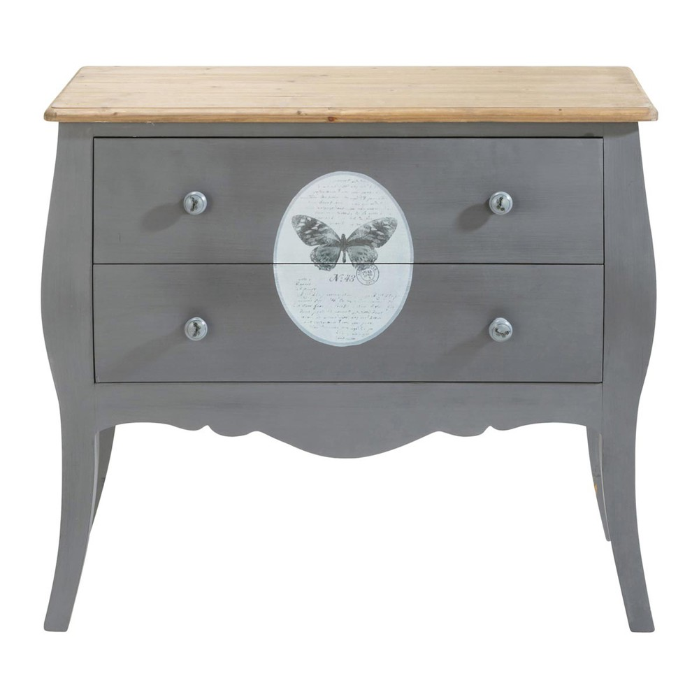 Commode grise papillon maisons du monde - Commode maison du monde occasion ...