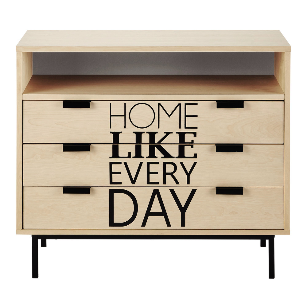 commode l 90 cm graphik maisons du monde. Black Bedroom Furniture Sets. Home Design Ideas