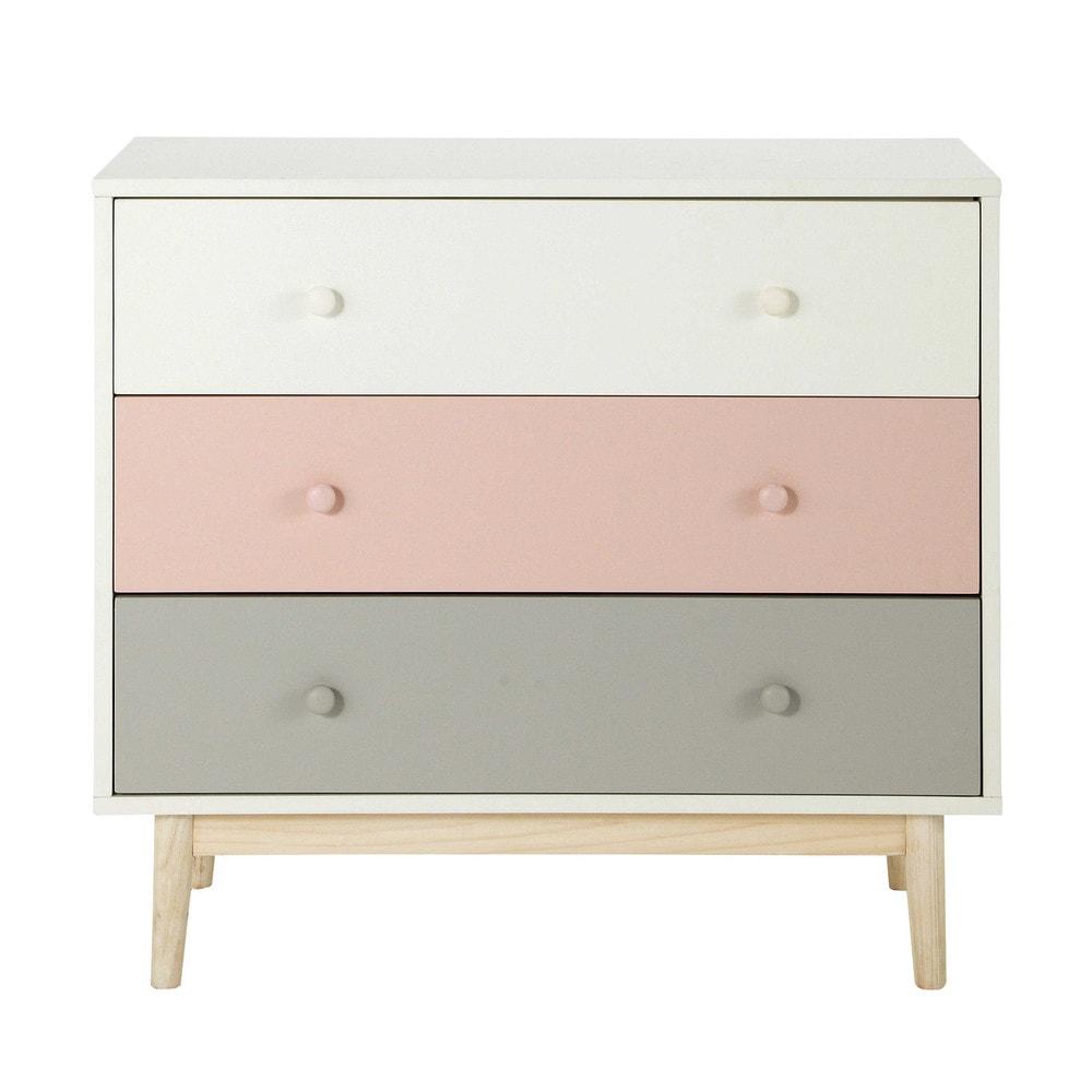 commode vintage blanche et rose blush maisons du monde. Black Bedroom Furniture Sets. Home Design Ideas