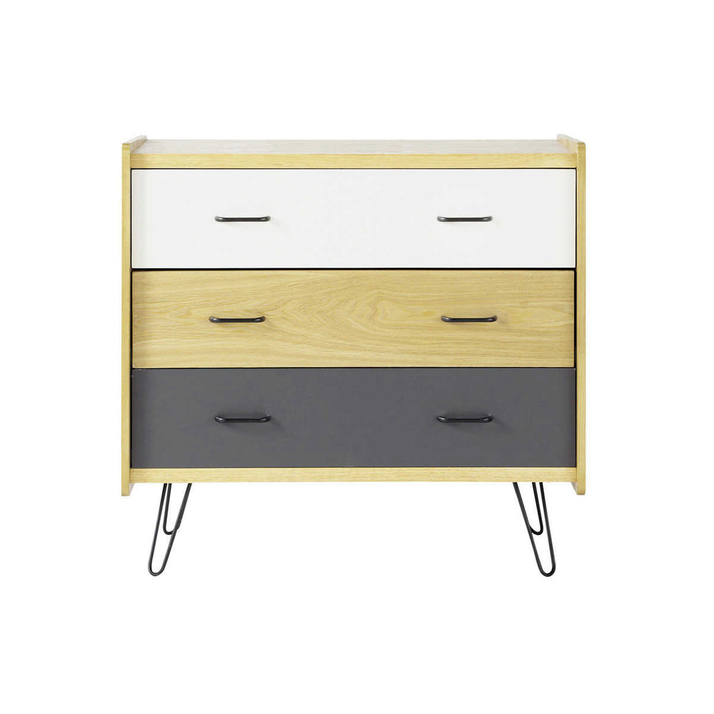 commode vintage en bois l 80 cm twist maisons du monde. Black Bedroom Furniture Sets. Home Design Ideas