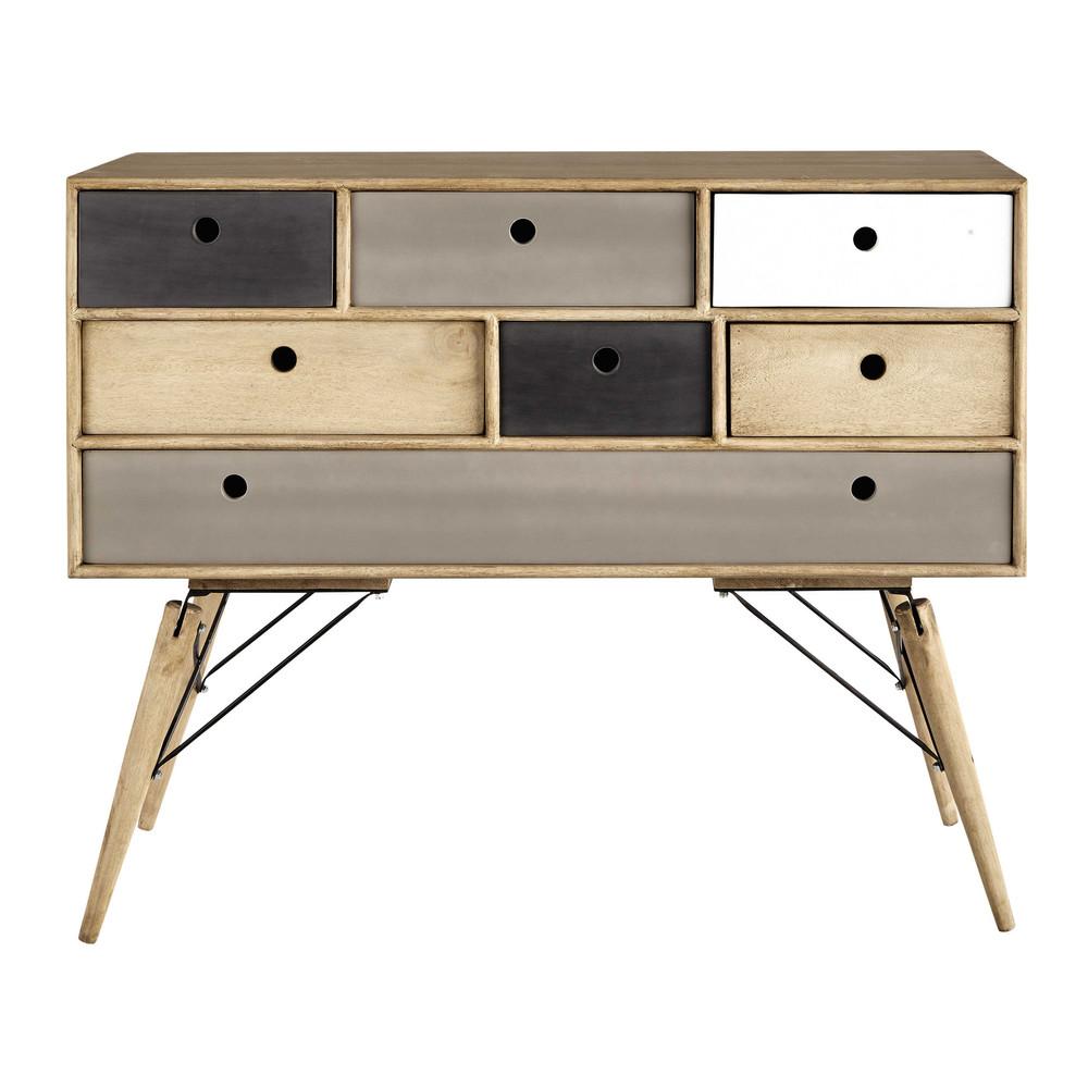 commode vintage en manguier massif l 120 cm melting. Black Bedroom Furniture Sets. Home Design Ideas