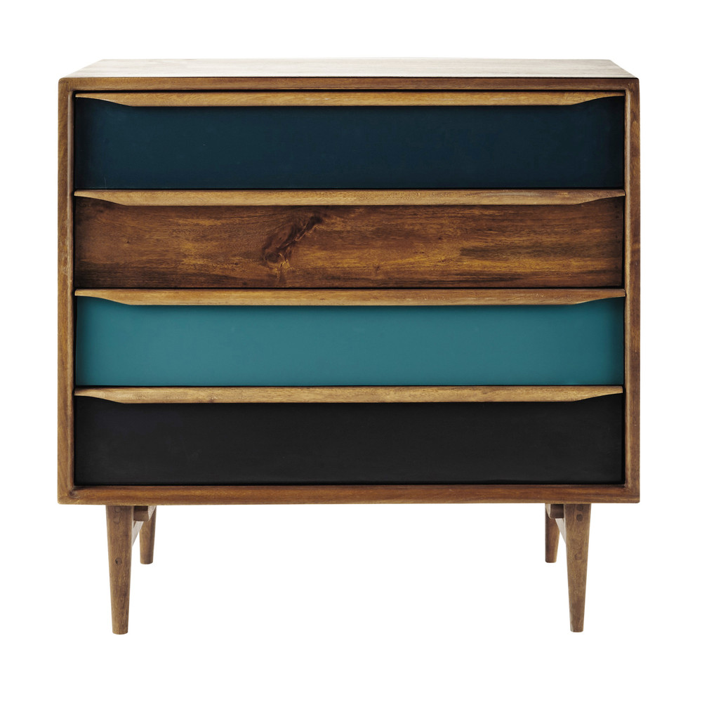 commode vintage en manguier teint l 86 cm janeiro maisons du monde. Black Bedroom Furniture Sets. Home Design Ideas