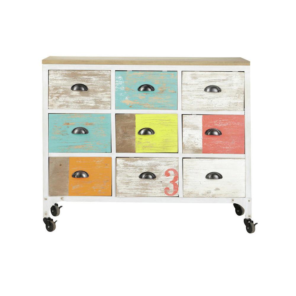 c moda bargue o con ruedas multicolor ipanema ipanema maisons du monde. Black Bedroom Furniture Sets. Home Design Ideas