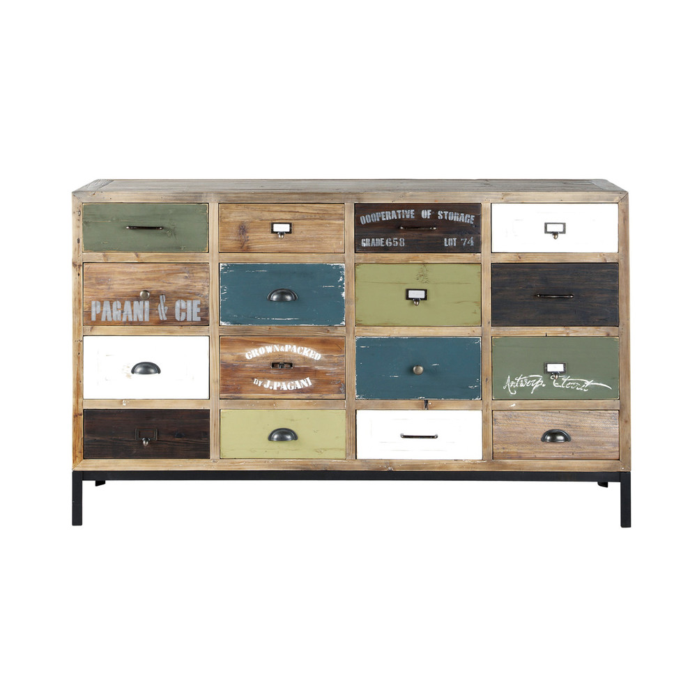 comptoir 16 tiroirs sarlat maisons du monde. Black Bedroom Furniture Sets. Home Design Ideas