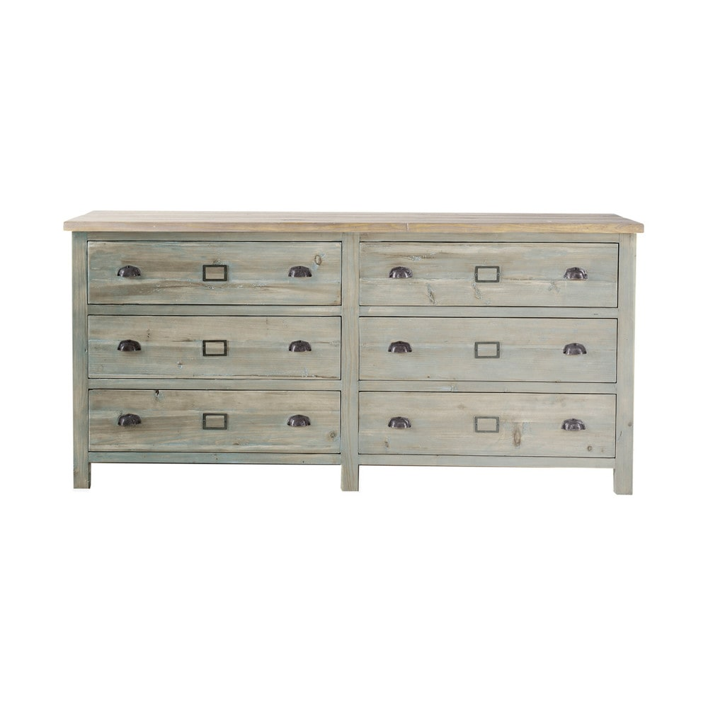 comptoir en bois recycl gris l 170 cm sarlat maisons du monde. Black Bedroom Furniture Sets. Home Design Ideas