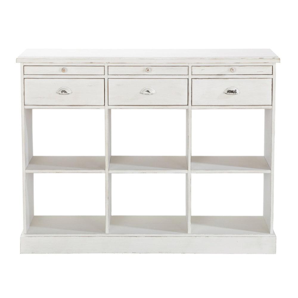 Comptoir ivoire l 126 cm garance maisons du monde for Comptoir du meuble delson