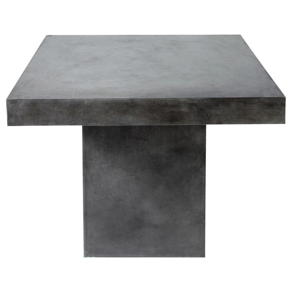 Concrete effect magnesia table in charcoal grey w 100cm mineral maisons du monde - Concrete effect tafel ...