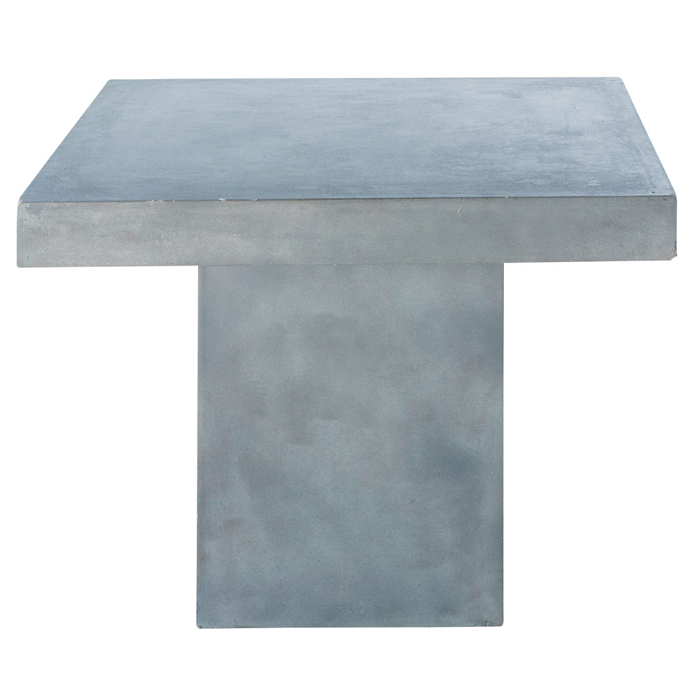 Concrete effect magnesia table in light grey w 100cm mineral maisons du monde - Concrete effect tafel ...