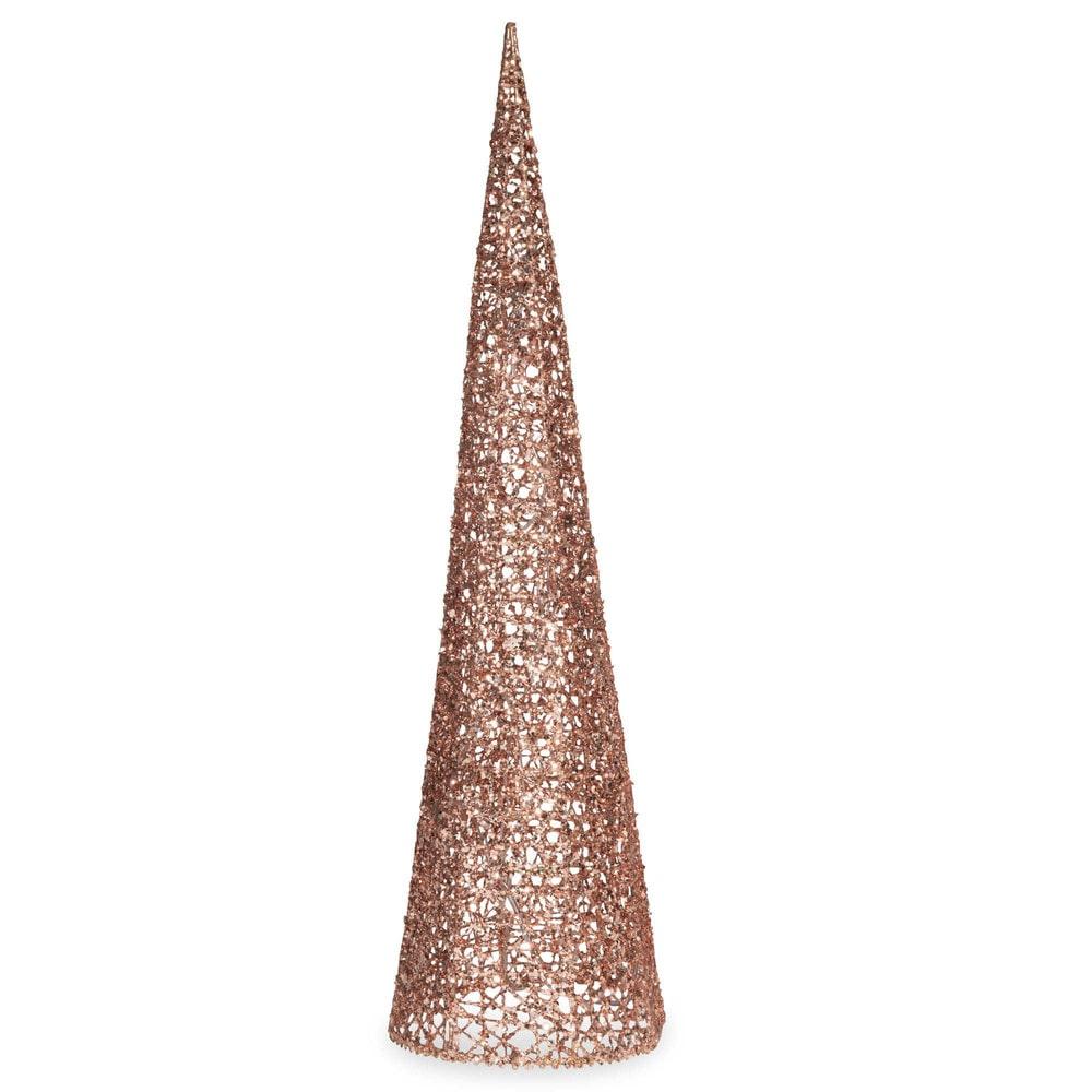 c ne lumineux en m tal h 60 cm copper maisons du monde. Black Bedroom Furniture Sets. Home Design Ideas