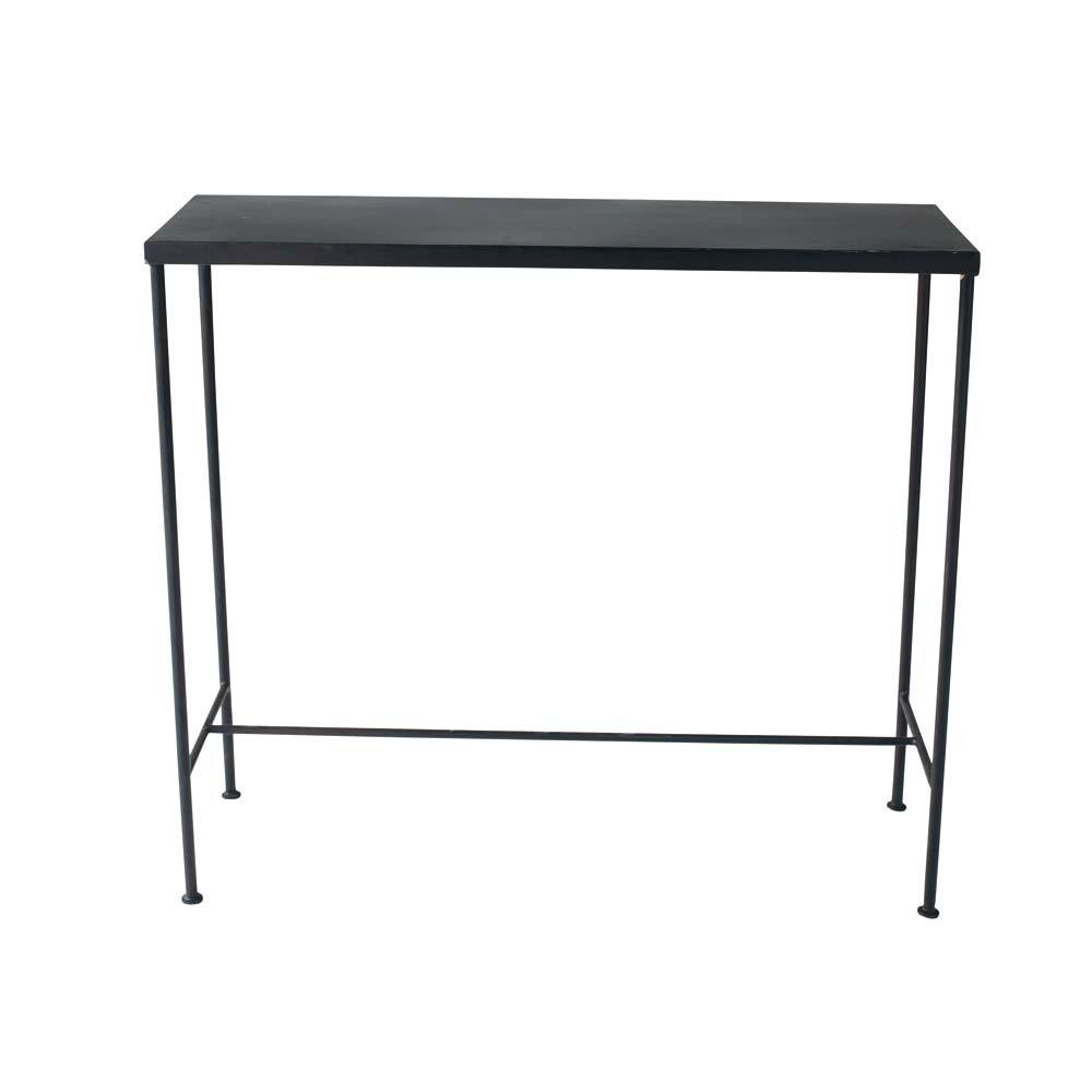 Consola industrial de metal negra 90 cm de largo edison - Consola industrial ...