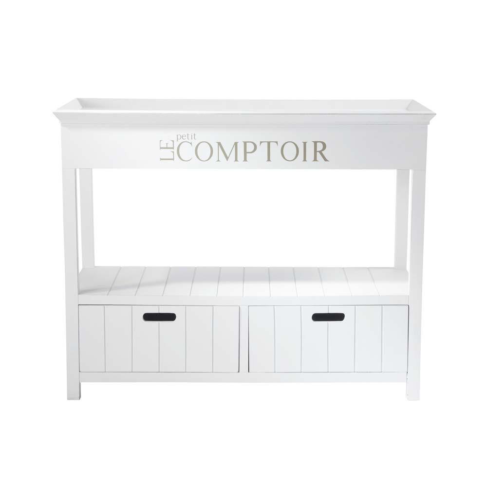 Console comptoir newport maisons du monde for Maison du monde console