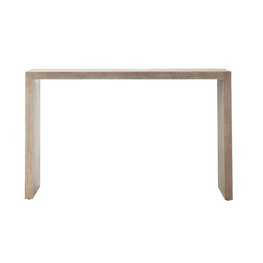 console en bois blanchi l 130 cm baltic maisons du monde. Black Bedroom Furniture Sets. Home Design Ideas