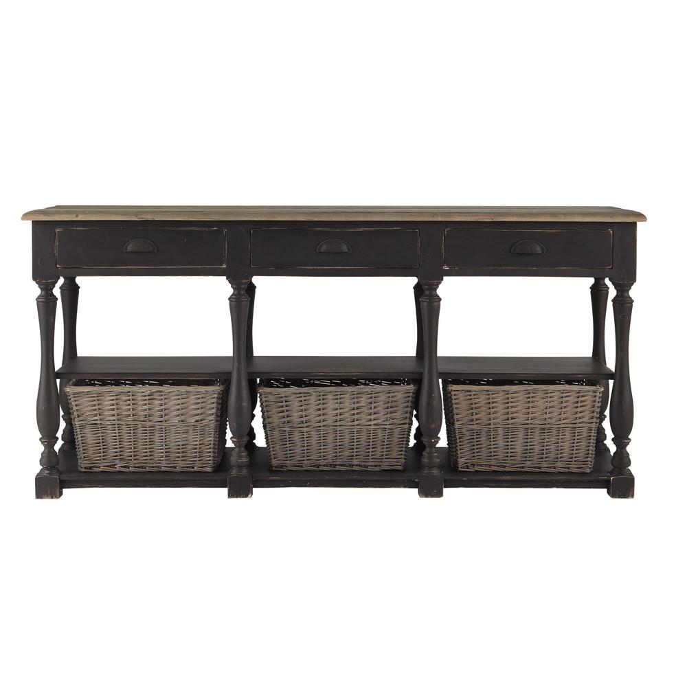 console en bois grise l 180 cm pauillac maisons du monde. Black Bedroom Furniture Sets. Home Design Ideas