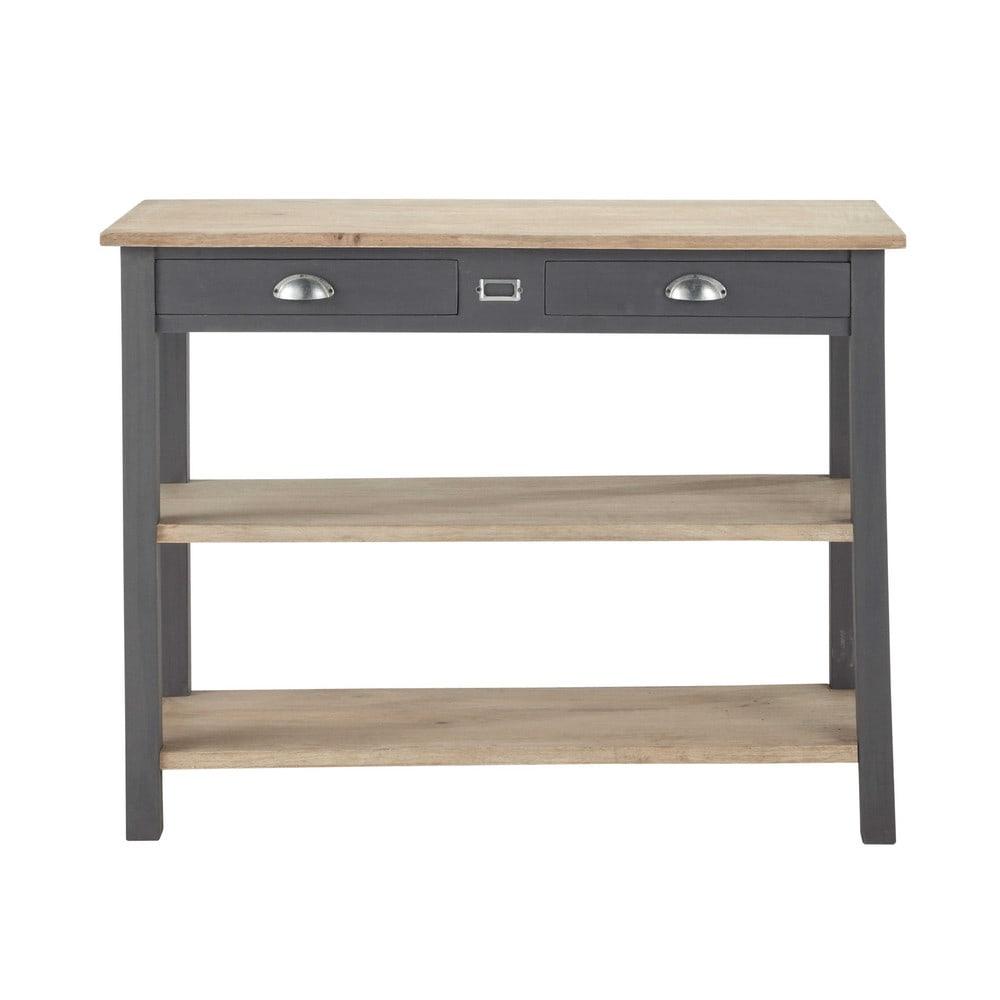 console en pin grise l 110 cm chablis maisons du monde. Black Bedroom Furniture Sets. Home Design Ideas