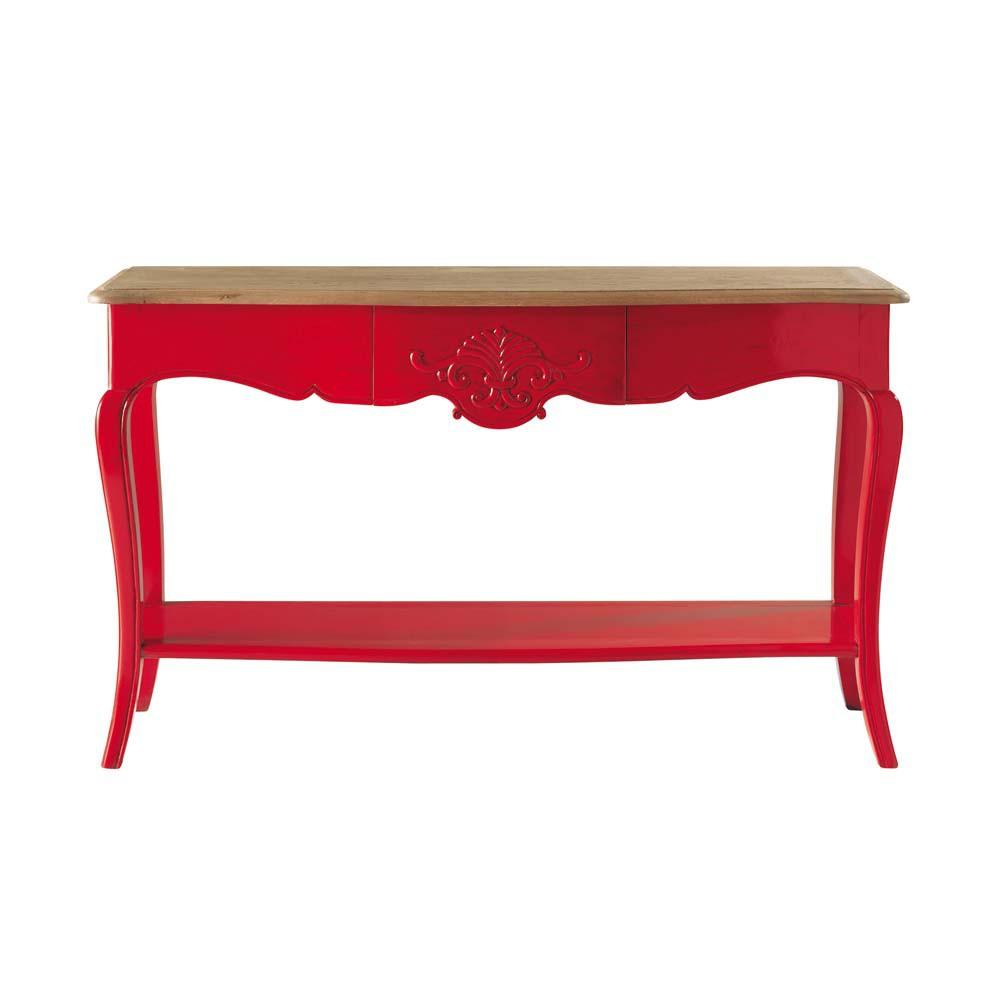 Console rouge haute couture maisons du monde - Meuble console rouge ...