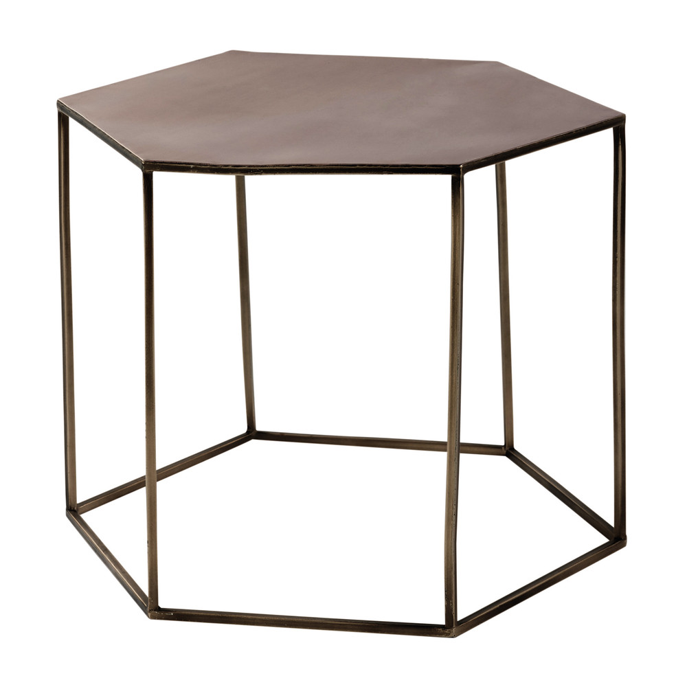 Copper Plated Metal Coffee Table W 60cm Cooper Maisons Du Monde