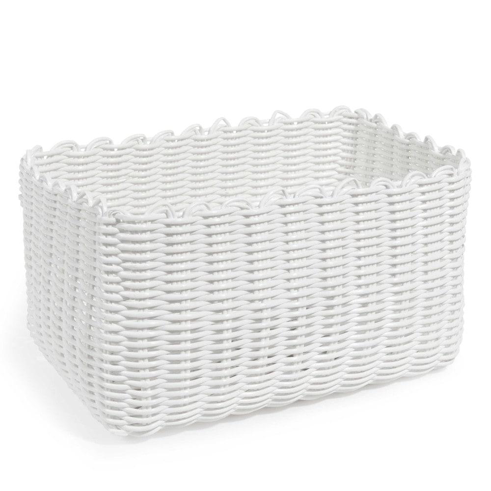 corbeille tress e blanche 14 x 17 cm scoubidou maisons du monde. Black Bedroom Furniture Sets. Home Design Ideas