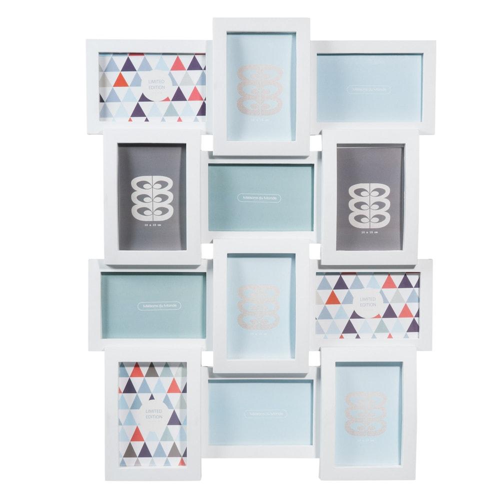 Cornice foto bianca a 12 immagini in plastica 46 x 61 cm for Cornice bianca foto
