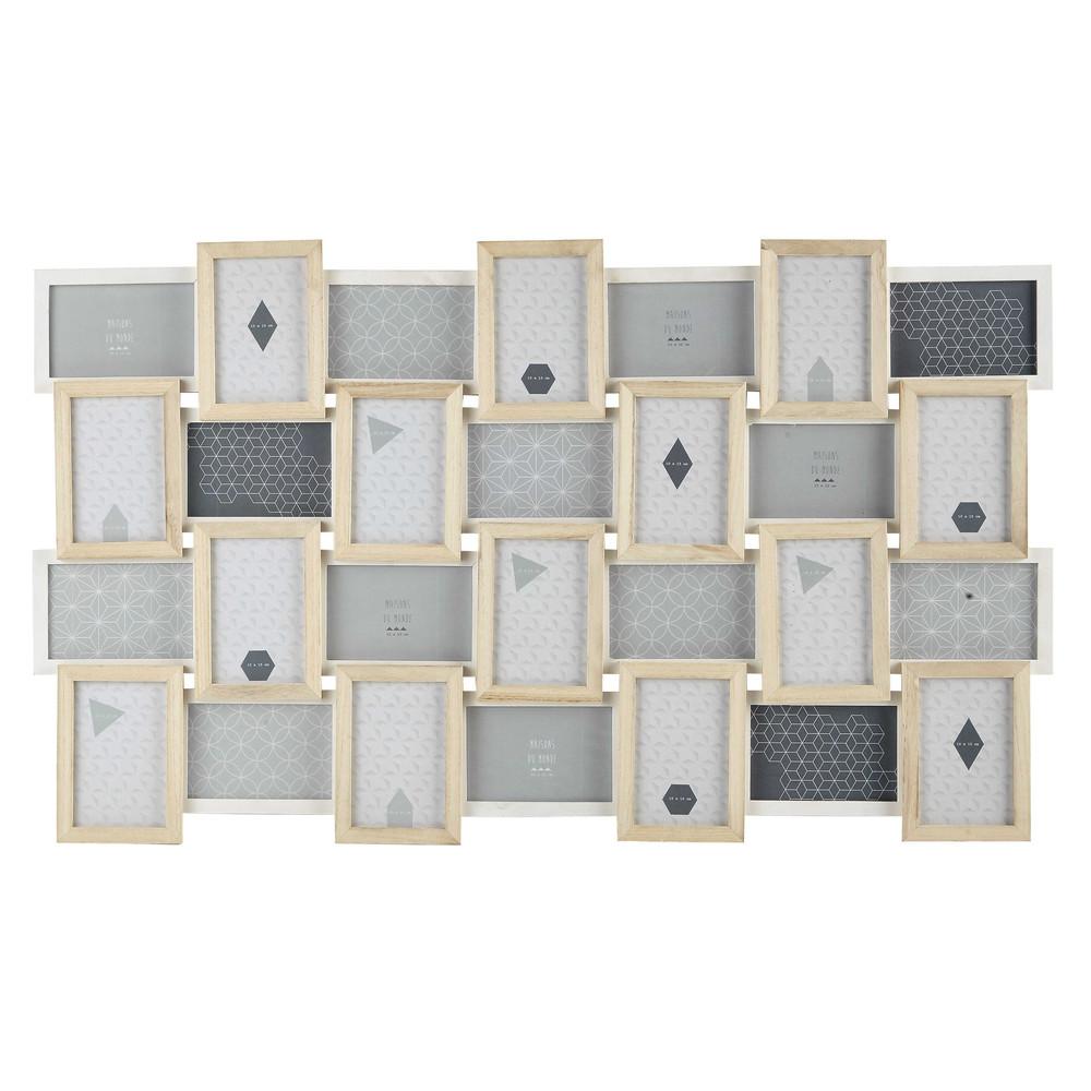 Cornice foto bianca in legno 59 x 100 cm nordik maisons for Cornice bianca foto