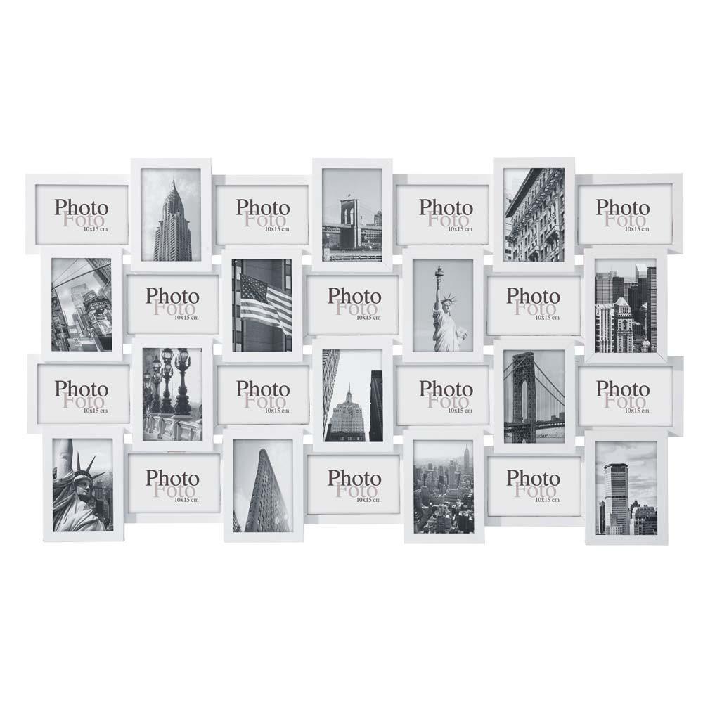Cornice foto bianca in legno 60 x 102 cm d calage for Cornice bianca foto