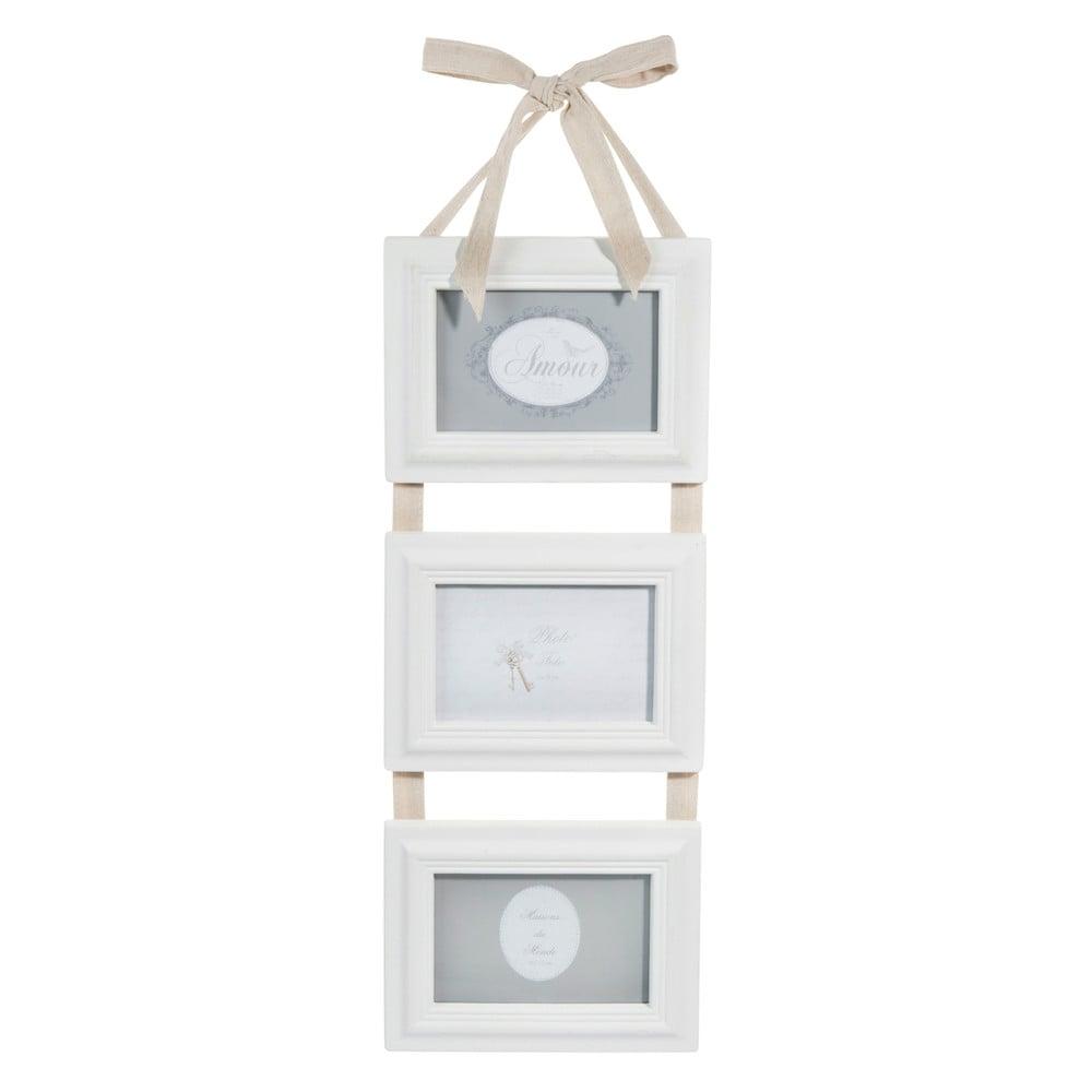 Cornice foto bianca tripla 10x15 cm hortense maisons du for Cornice bianca foto