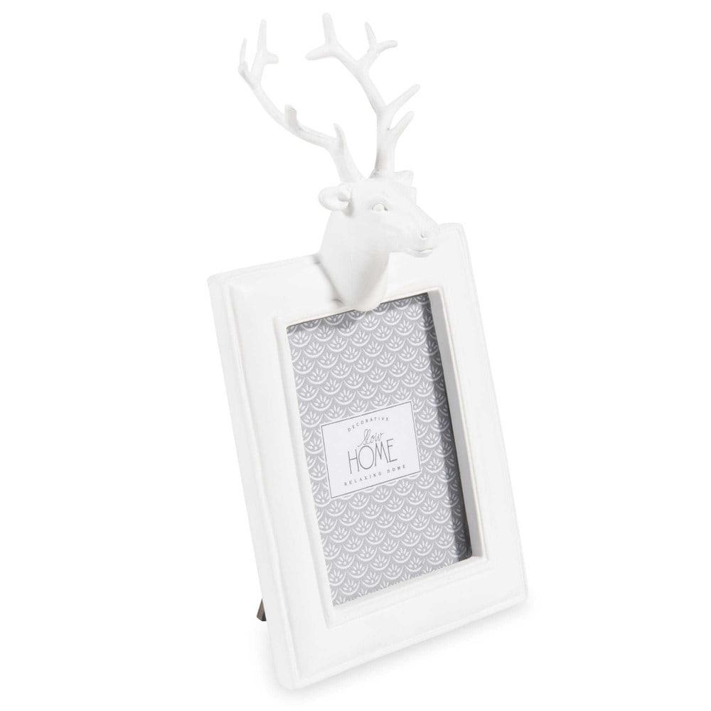Cornice fotografica bianca cervo 6 3x8 5 cm maisons du monde for Cornice bianca foto