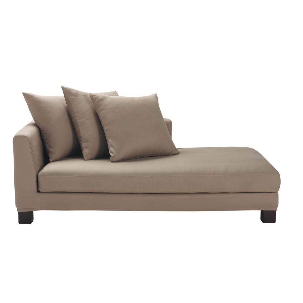 cotton daybed taupe turenne maisons du monde. Black Bedroom Furniture Sets. Home Design Ideas
