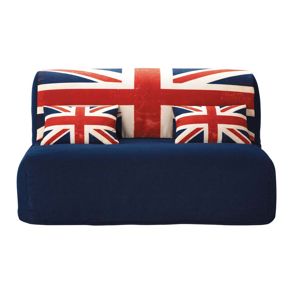 cotton z bed sofa cover with union jack print elliot