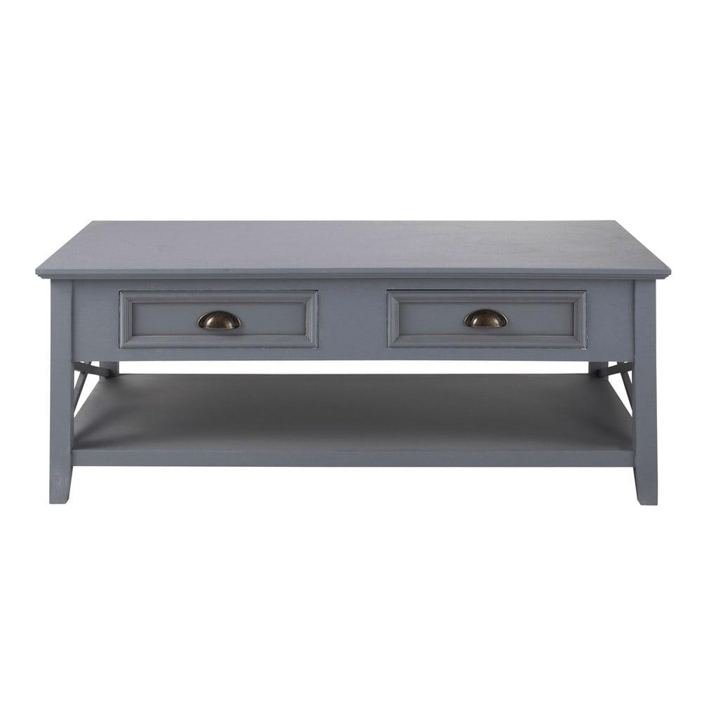 couchtisch grau holz couchtisch aus holz mit staufach b 120 cm grau artic maisons du monde. Black Bedroom Furniture Sets. Home Design Ideas