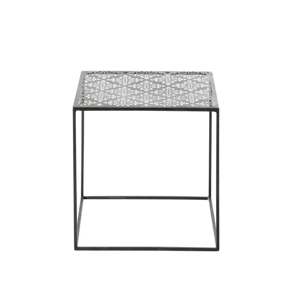 couchtisch metall schwarz menara menara maisons du monde. Black Bedroom Furniture Sets. Home Design Ideas