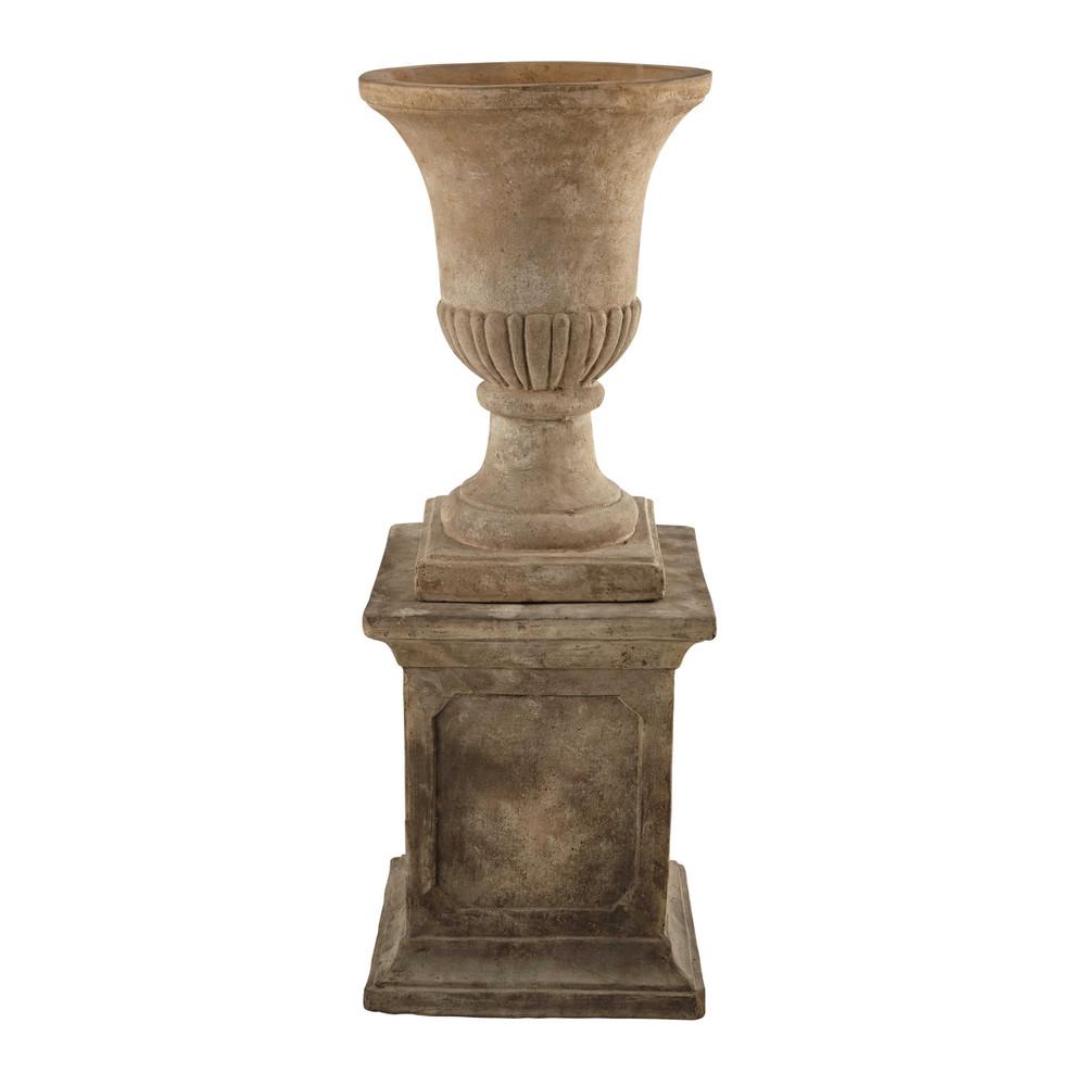 Coupe colonne en terre cuite h 100 cm lyse maisons du monde for Colonne decorative exterieur