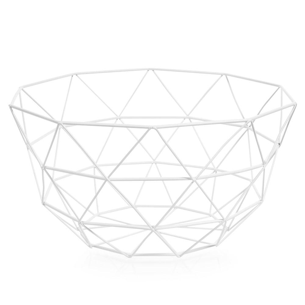 coupe en m tal blanche d 27 cm graphique maisons du monde. Black Bedroom Furniture Sets. Home Design Ideas