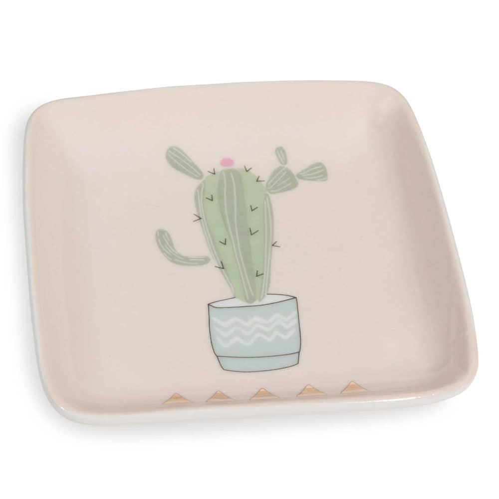 coupelle en porcelaine rose cactus maisons du monde. Black Bedroom Furniture Sets. Home Design Ideas