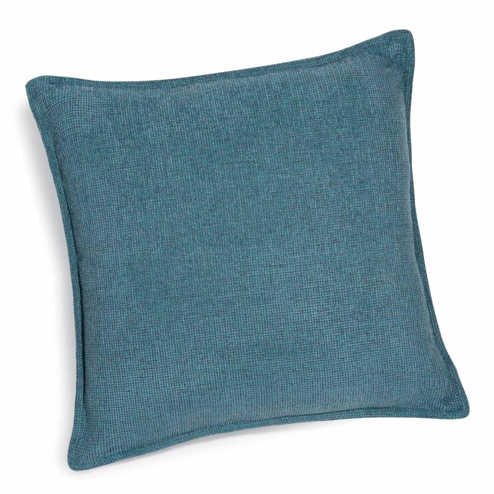 coussin bleu cobalt 45 x 45 cm chenille maisons du monde. Black Bedroom Furniture Sets. Home Design Ideas