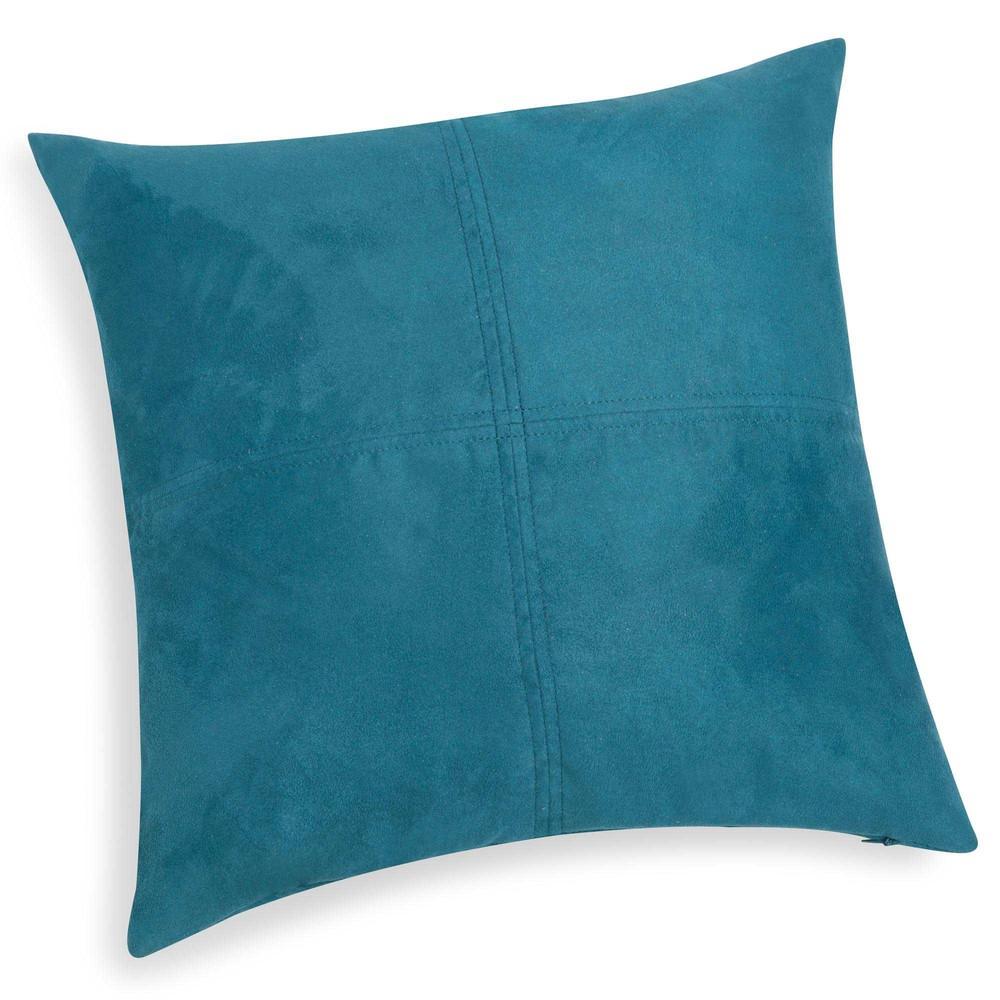 coussin bleu de saxe 40 x 40 cm swedine maisons du monde. Black Bedroom Furniture Sets. Home Design Ideas