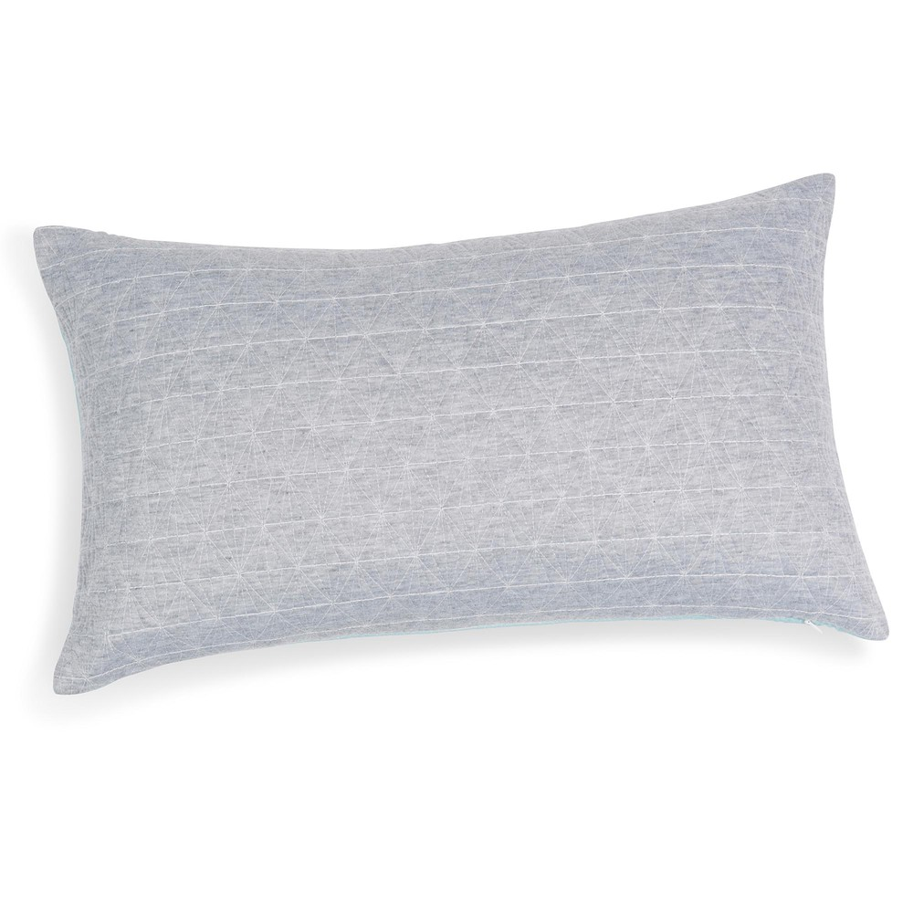 coussin bleu gris 30 x 50 cm elua maisons du monde. Black Bedroom Furniture Sets. Home Design Ideas