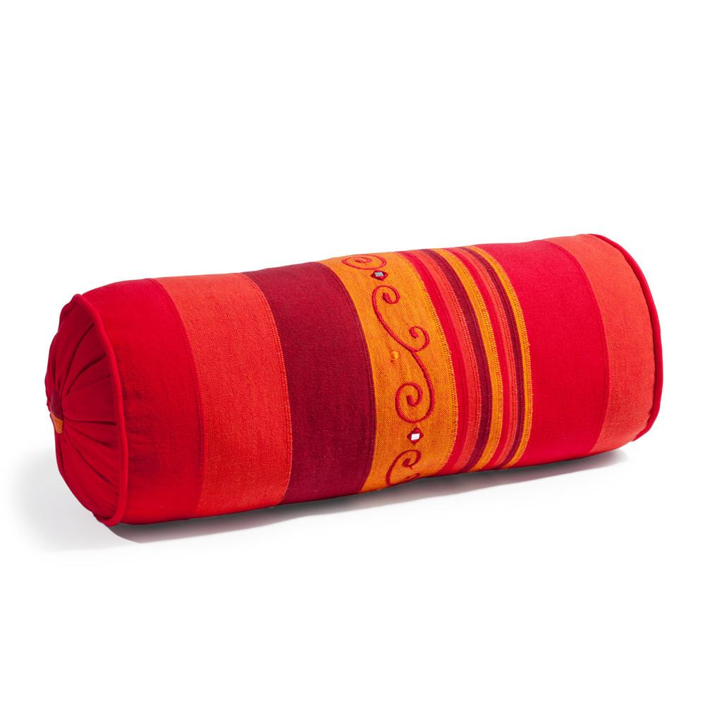 coussin boudin en coton rouge 15 x 40 cm atlas maisons du monde. Black Bedroom Furniture Sets. Home Design Ideas