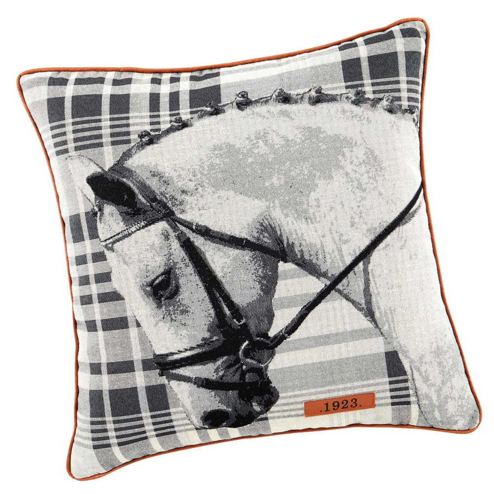 coussin cheval 45 x 45 cm horace maisons du monde. Black Bedroom Furniture Sets. Home Design Ideas