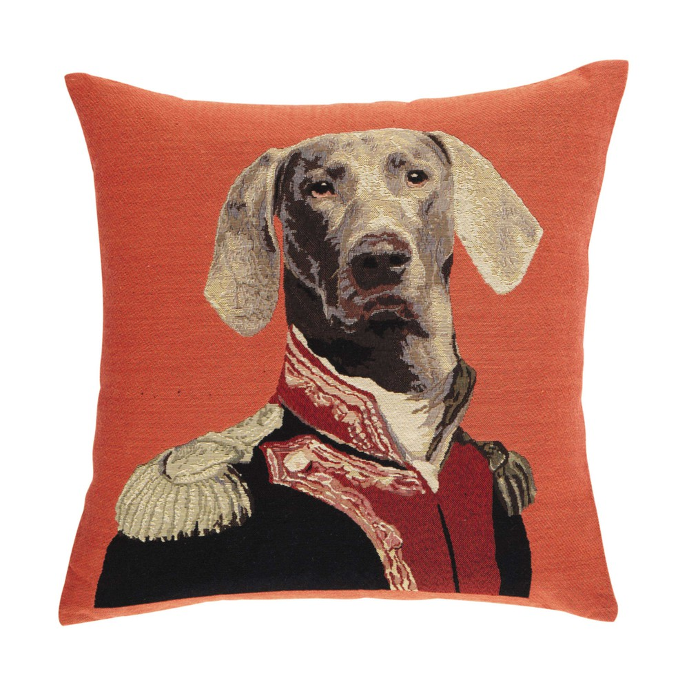 coussin chien orange 45 x 45 cm ernest maisons du monde. Black Bedroom Furniture Sets. Home Design Ideas