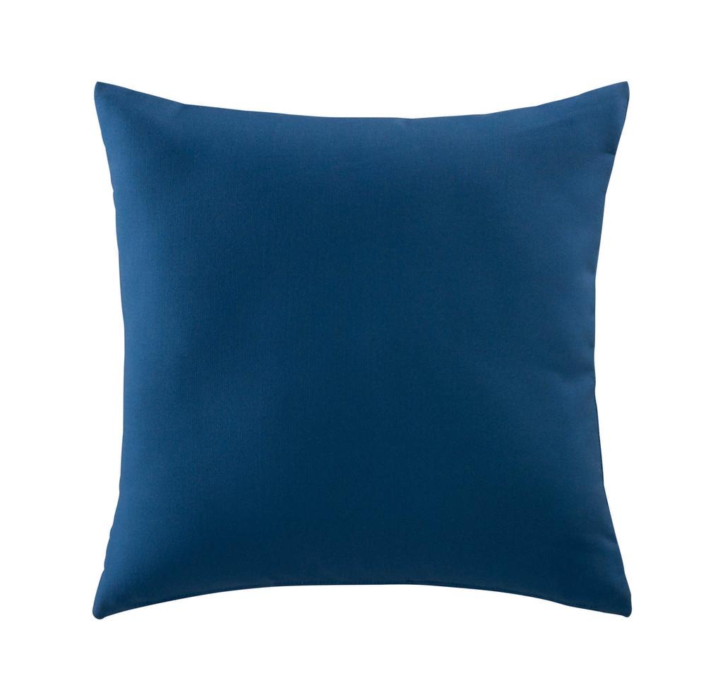 coussin d 39 ext rieur bleu 40 x 40 cm maisons du monde. Black Bedroom Furniture Sets. Home Design Ideas